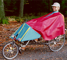 Alfred's All-Weather-Solution for classic long-wheel-base recumbent bicycles